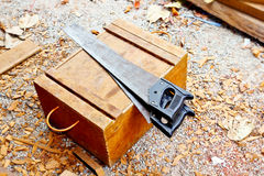 Saws for cutting wood Royalty Free Stock Photo