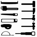 Saws and hammers symbols vector illustration Royalty Free Stock Image