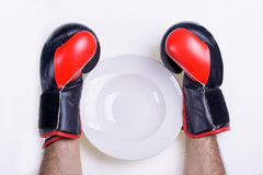 SawThe Dish for Diet is Empty Stock Images