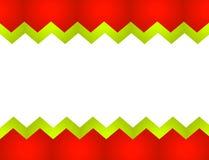 Sawtooth Christmas Stripe Border royalty free stock image