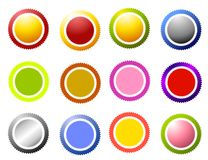 Sawtooth Edge Circles Icons Stock Photography