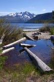 Sawtooth góry, Redfish jezioro obraz stock