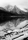 Sawtooth Halnego jeziora zimy krajobrazu Idaho Głęboki obywatel Recr Zdjęcie Royalty Free