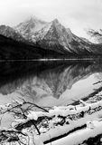 Sawtooth Mountain Lake Deep Winter Landscape Idaho National Recr Royalty Free Stock Photo