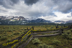 Sawtooth Mountain Range, Idaho Stock Image