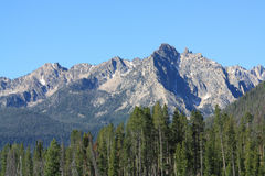 Sawtooth mountain range Royalty Free Stock Photography