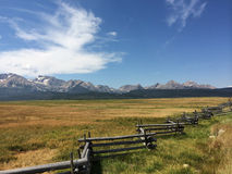 Sawtooth mountain range Stock Image