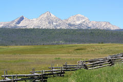 Sawtooth mountain range 1 Stock Photo
