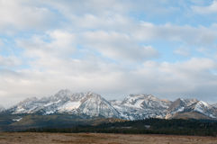 Sawtooth Mountains Stock Photo