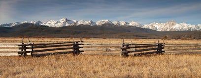 Sawtooth Mountains Sun Valley Ranch Field Stock Photos