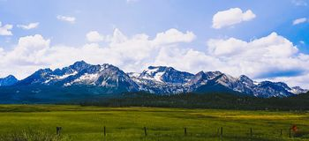 Sawtooth Scenes in July royalty free stock photo