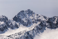 Sawtoothberg med snö Royaltyfri Fotografi