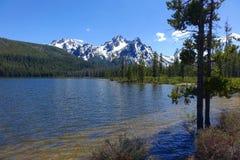 Sawtoothberg, Stanley Lake Royaltyfria Bilder