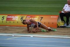 Sawyers di Jazmin dalla medaglia di bronzo di vittoria della Gran Bretagna Fotografia Stock