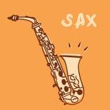 sax royaltyfri illustrationer