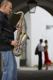 Sax & The City Stock Image