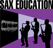 Sax education Stock Photos