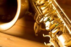 Sax golden tenor saxophone vintage retro Stock Image