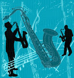 Sax Grunge Background Stock Images
