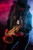 Sax Lady Royalty Free Stock Photography
