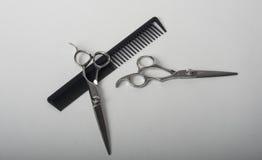 Sax med hårkammen Fotografering för Bildbyråer