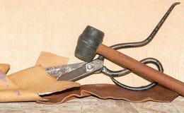 Sax och läder Royaltyfria Bilder