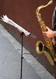 Sax player Royalty Free Stock Photos