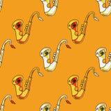 Sax seamless pattern. Original design for print or digital media Royalty Free Stock Photos