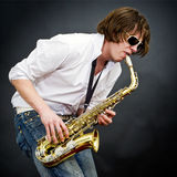 Sax solo Stock Photo