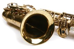 Sax theme. Saxophone. Musical instrument. Part of hornsection Royalty Free Stock Images