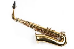 Sax theme. Saxophone. Musical instrument. Part of hornsection Royalty Free Stock Photo