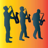 Sax Trio. Illustration of a Saxophone Trio, vector format available royalty free illustration
