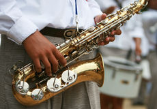 Saxaphone Marching Band Royalty Free Stock Photos