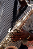 Saxaphone player Stock Images