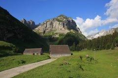 Saxer in primo luogo, montagna nel cantone di Appenzell Fotografia Stock