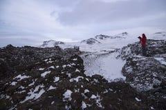 saxholl är den härliga bildade krater som fick utbrott 3-4000 år a Royaltyfri Fotografi