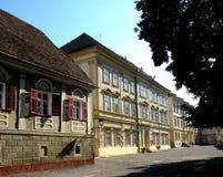Saxisk skola av Honterus i Brasov Arkivbilder