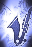 SaxMusic Royalty Free Stock Images