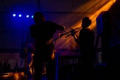Saxo en fluit bij een overleg royalty-vrije stock foto's