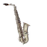 Saxofón aislado Imagen de archivo libre de regalías