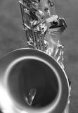 Saxofón de plata Foto de archivo