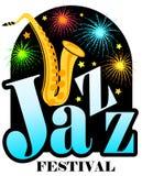 Saxofón del festival de jazz Foto de archivo