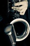 Saxofón del jazz Fotos de archivo