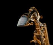 Saxofón en la serie negra - 3 Fotografía de archivo