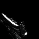 Saxofón en negro Foto de archivo libre de regalías