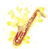 Saxofón incompleto abstracto Foto de archivo libre de regalías