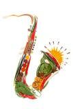 Saxofón picante. Imagenes de archivo