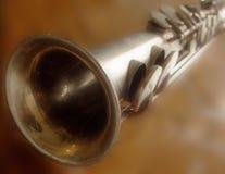 Saxofón recto Foto de archivo libre de regalías