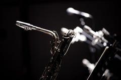Saxofón y jazz Foto de archivo