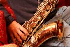 Saxofón Fotos de archivo libres de regalías